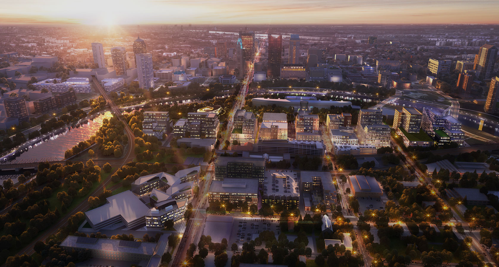 The Peninsula aerial view