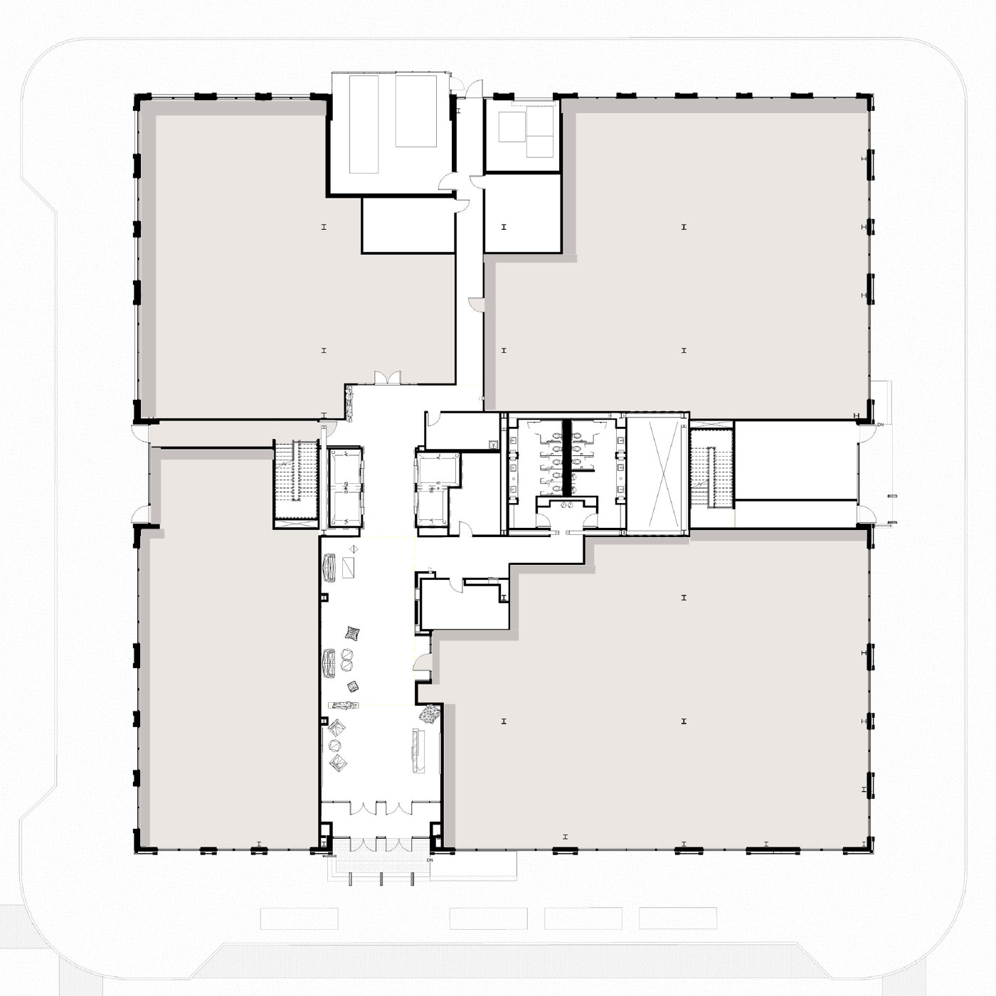 Peninsula Floor Plan Level 1