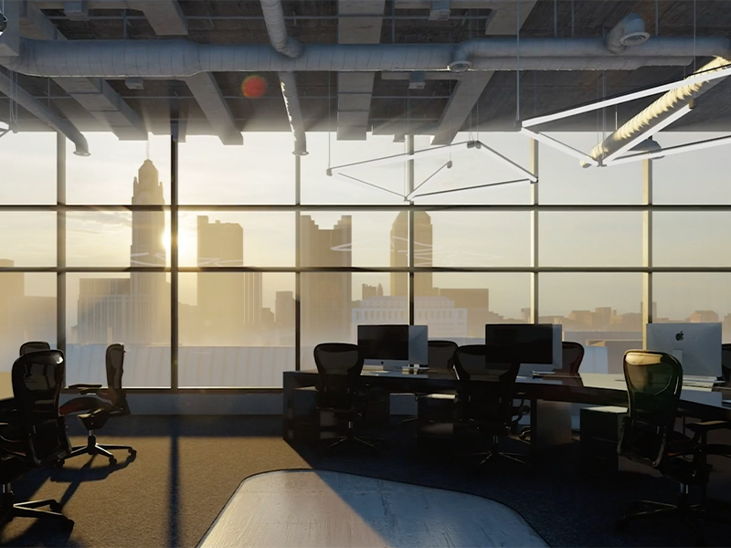 Rendering of interior of The Peninsula Office