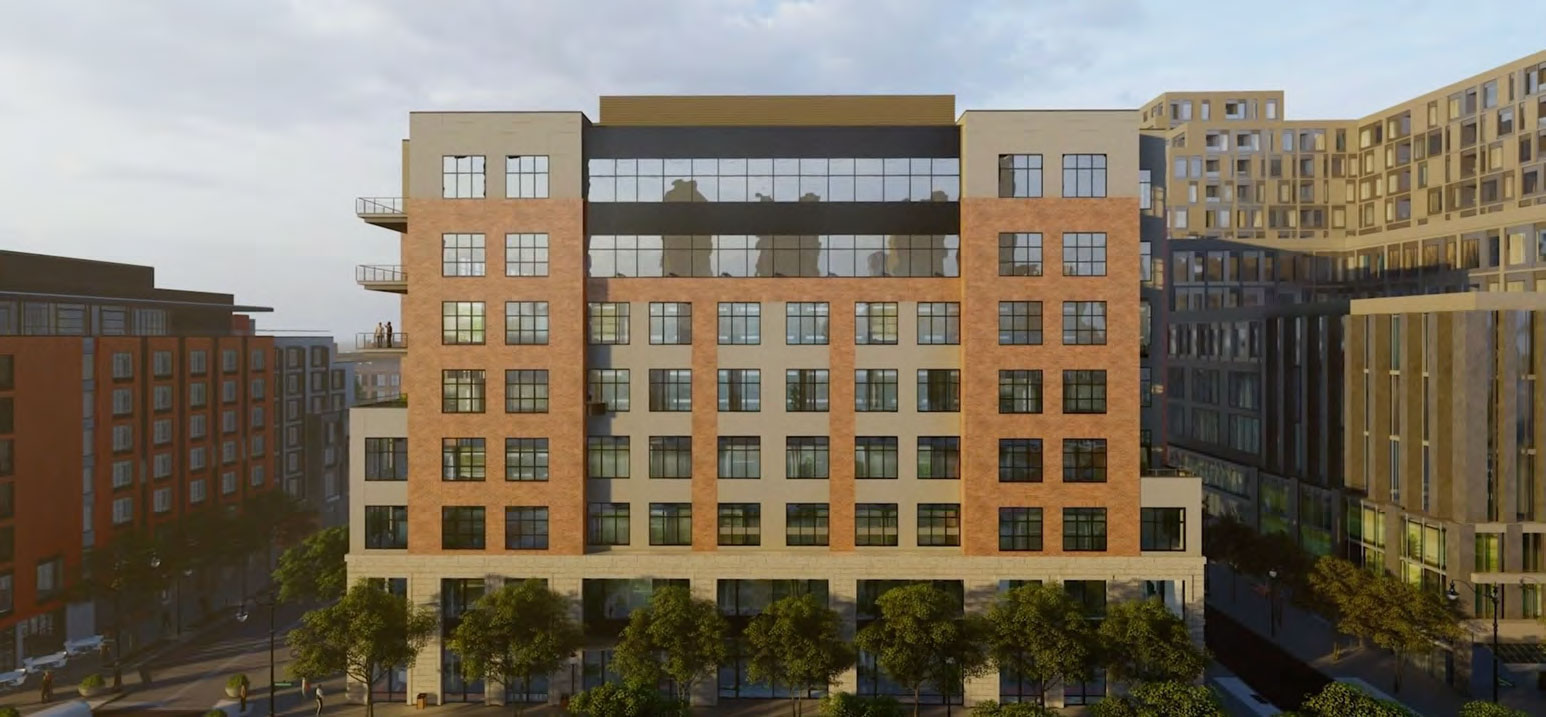 Rendering of the building exterior